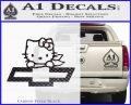 Hello Kitty Chevy Cheverolet D2 Decal Sticker Carbon FIber Black Vinyl 120x97