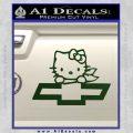 Hello Kitty Chevy Cheverolet D2 Decal Sticker Dark Green Vinyl 120x120