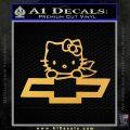 Hello Kitty Chevy Cheverolet D2 Decal Sticker Gold Vinyl 120x120
