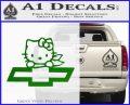 Hello Kitty Chevy Cheverolet D2 Decal Sticker Green Vinyl Logo 120x97