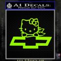 Hello Kitty Chevy Cheverolet D2 Decal Sticker Lime Green Vinyl 120x120