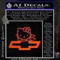 Hello Kitty Chevy Cheverolet D2 Decal Sticker Orange Emblem 120x120