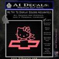 Hello Kitty Chevy Cheverolet D2 Decal Sticker Pink Emblem 120x120