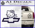 Hello Kitty Chevy Cheverolet D2 Decal Sticker PurpleEmblem Logo 120x97