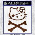 Hello Kitty Crossbones Cute Decal Sticker BROWN Vinyl 120x120