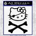 Hello Kitty Crossbones Cute Decal Sticker Black Vinyl 120x120