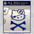 Hello Kitty Crossbones Cute Decal Sticker Blue Vinyl 120x120