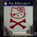 Hello Kitty Crossbones Cute Decal Sticker DRD Vinyl 120x120