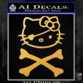 Hello Kitty Crossbones Cute Decal Sticker Gold Vinyl 120x120