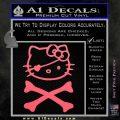 Hello Kitty Crossbones Cute Decal Sticker Pink Emblem 120x120