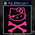Hello Kitty Crossbones Cute Decal Sticker Pink Hot Vinyl 120x120