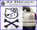 Hello Kitty Crossbones Cute Decal Sticker PurpleEmblem Logo 120x97