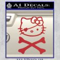 Hello Kitty Crossbones Cute Decal Sticker Red 120x120