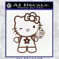 Hello Kitty Gangster Decal Sticker BROWN Vinyl 120x120