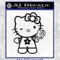 Hello Kitty Gangster Decal Sticker Black Vinyl 120x120