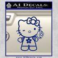 Hello Kitty Gangster Decal Sticker Blue Vinyl 120x120