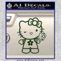 Hello Kitty Gangster Decal Sticker Dark Green Vinyl 120x120