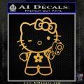 Hello Kitty Gangster Decal Sticker Gold Vinyl 120x120