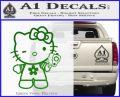 Hello Kitty Gangster Decal Sticker Green Vinyl Logo 120x97