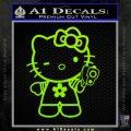 Hello Kitty Gangster Decal Sticker Lime Green Vinyl 120x120