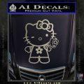 Hello Kitty Gangster Decal Sticker Metallic Silver Emblem 120x120