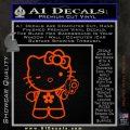 Hello Kitty Gangster Decal Sticker Orange Emblem 120x120