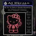 Hello Kitty Gangster Decal Sticker Pink Emblem 120x120