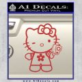 Hello Kitty Gangster Decal Sticker Red 120x120