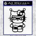 Hello Kitty Harley Quinn Decal Sticker Black Vinyl 120x120