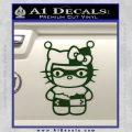 Hello Kitty Harley Quinn Decal Sticker Dark Green Vinyl 120x120