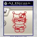 Hello Kitty Harley Quinn Decal Sticker Red 120x120