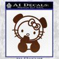 Hello Kitty Panda Decal Sticker BROWN Vinyl 120x120