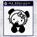Hello Kitty Panda Decal Sticker Black Vinyl 120x120
