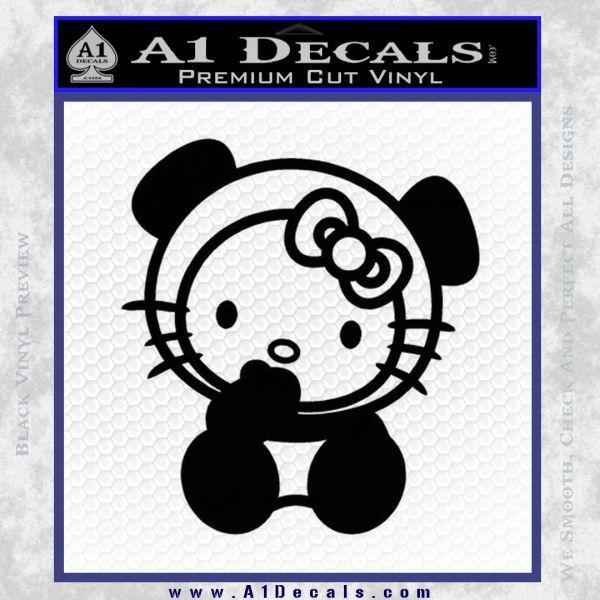 Hello Kitty Panda Decal Sticker Black Vinyl