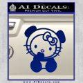 Hello Kitty Panda Decal Sticker Blue Vinyl 120x120