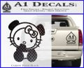 Hello Kitty Panda Decal Sticker Carbon FIber Black Vinyl 120x97