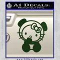 Hello Kitty Panda Decal Sticker Dark Green Vinyl 120x120