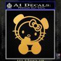 Hello Kitty Panda Decal Sticker Gold Vinyl 120x120