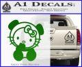 Hello Kitty Panda Decal Sticker Green Vinyl Logo 120x97