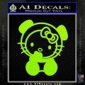 Hello Kitty Panda Decal Sticker Lime Green Vinyl 120x120