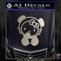 Hello Kitty Panda Decal Sticker Metallic Silver Emblem 120x120