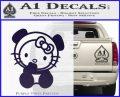 Hello Kitty Panda Decal Sticker PurpleEmblem Logo 120x97