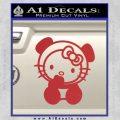 Hello Kitty Panda Decal Sticker Red 120x120