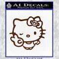 Hello Kitty Peace Sign R Decal Sticker BROWN Vinyl 120x120