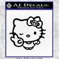 Hello Kitty Peace Sign R Decal Sticker Black Vinyl 120x120