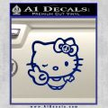 Hello Kitty Peace Sign R Decal Sticker Blue Vinyl 120x120
