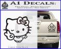 Hello Kitty Peace Sign R Decal Sticker Carbon FIber Black Vinyl 120x97