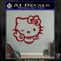 Hello Kitty Peace Sign R Decal Sticker DRD Vinyl 120x120