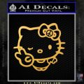 Hello Kitty Peace Sign R Decal Sticker Gold Vinyl 120x120