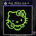 Hello Kitty Peace Sign R Decal Sticker Lime Green Vinyl 120x120